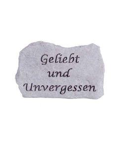 """Gedenkstein """"Geliebt und Unvergessen"""", Steinguss"""
