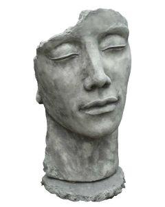 """Gesicht """"Mann"""", inkl. Platte zur Montage,Steinguss"""